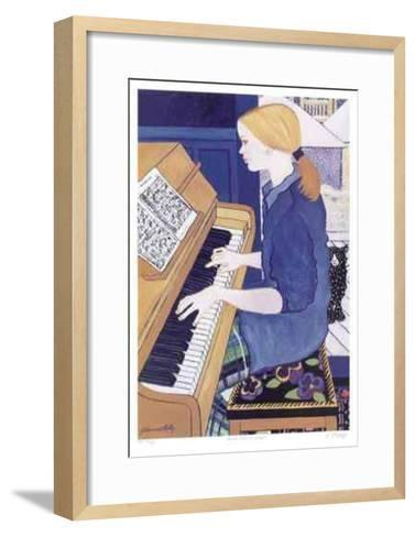 Piano and Cat in Snow-Johanna Skelly-Framed Art Print