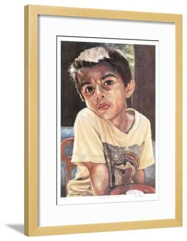 Playing with His Truck-Neville Clarke-Framed Art Print