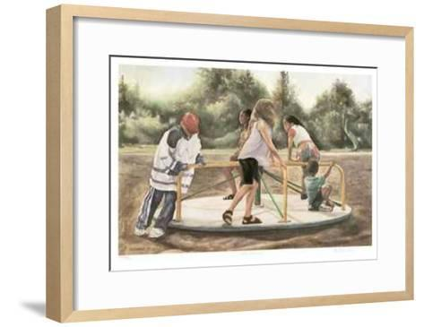 The Carousel-Neville Clarke-Framed Art Print