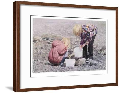 Hunting for Crabs--Framed Art Print