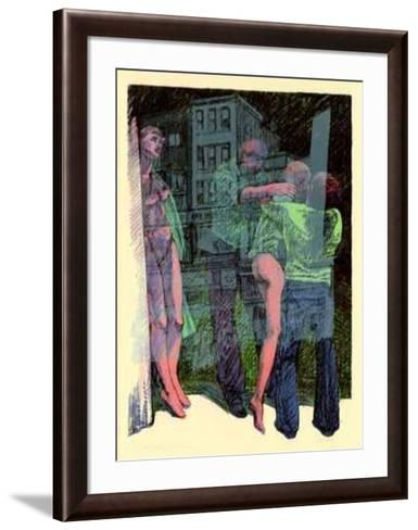 Unyielding Manequins-John Hardey-Framed Art Print