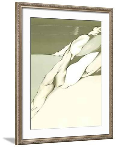 Virtual Grey and White- Toral-Framed Art Print