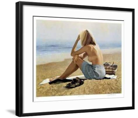 Girl on a Beach-Michael Thompson-Framed Art Print