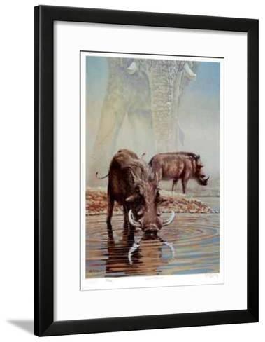 Tsavo Waterhole-R. V. Stanley-Framed Art Print