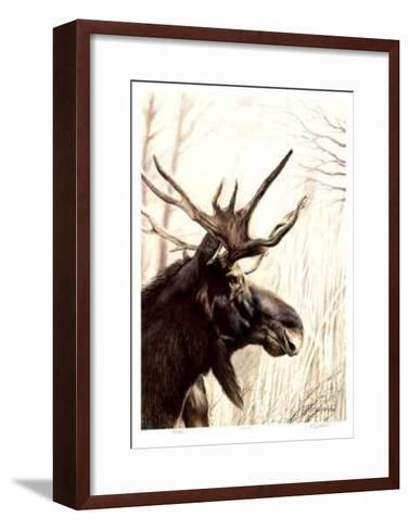 Moose-Robert Pow-Framed Art Print