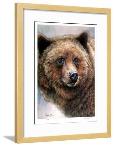 Grizzly Bear-Robert Pow-Framed Art Print