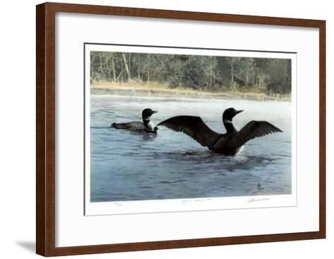 Yodeling - Common Loon-Carl Arlen-Framed Art Print