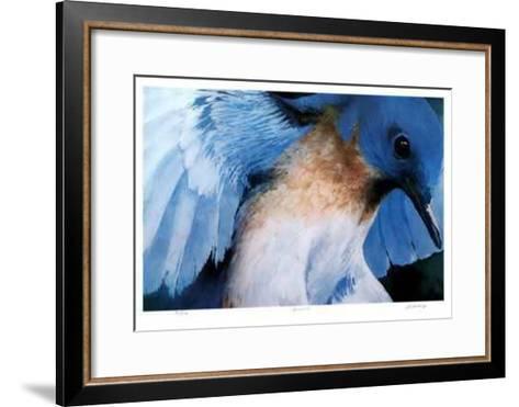 Blue Bird-Carl Arlen-Framed Art Print