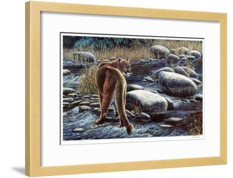 Cougar Crossing-Cyril Cox-Framed Art Print