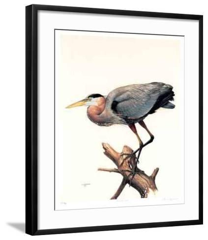 Great Blue Heron-James Fenwick Lansdowne-Framed Art Print