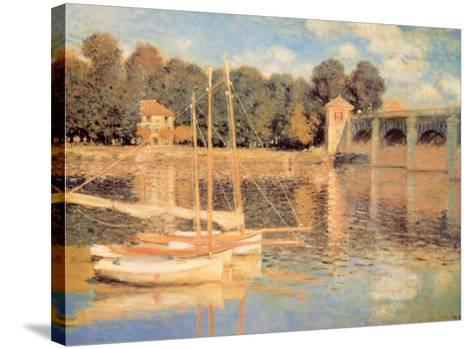 Il Pont d'Argenteuil-Claude Monet-Stretched Canvas Print