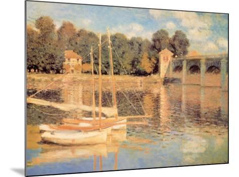 Il Pont d'Argenteuil-Claude Monet-Mounted Art Print