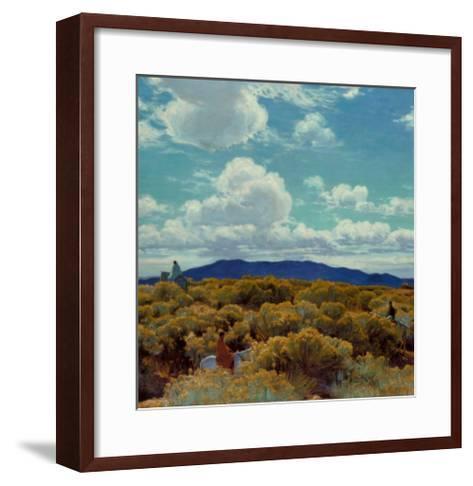 Through the Chamisa, Santa Fe Opera, 1989-E^ Martin Hennings-Framed Art Print