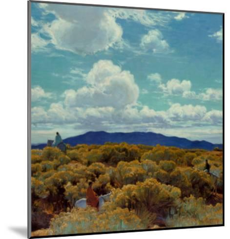 Through the Chamisa, Santa Fe Opera, 1989-E^ Martin Hennings-Mounted Art Print