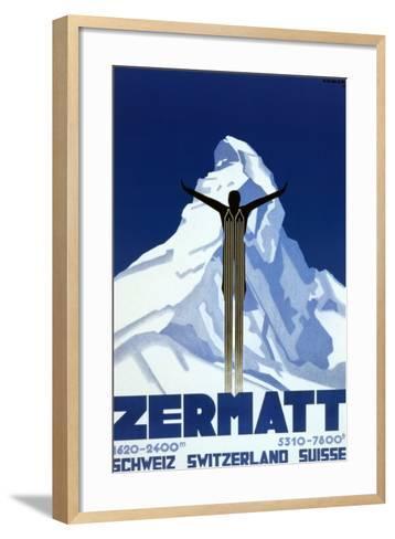 Zermatt-Pierre Kramer-Framed Art Print
