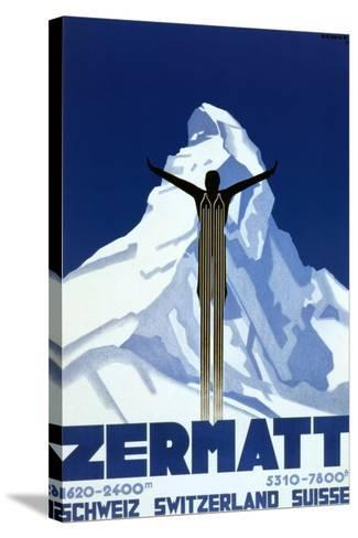 Zermatt-Pierre Kramer-Stretched Canvas Print