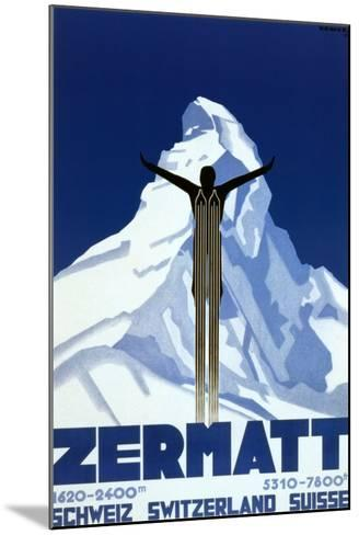 Zermatt-Pierre Kramer-Mounted Art Print