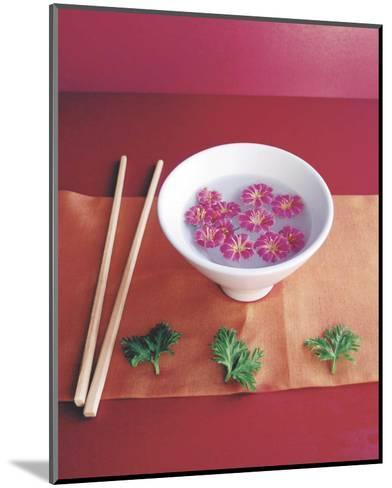 Bowl with Flowers-Amelie Vuillon-Mounted Art Print