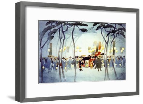 Japanese Procession--Framed Art Print