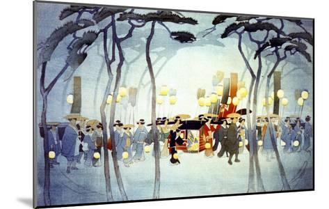 Japanese Procession--Mounted Giclee Print