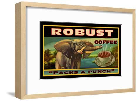 Robust Coffee--Framed Art Print
