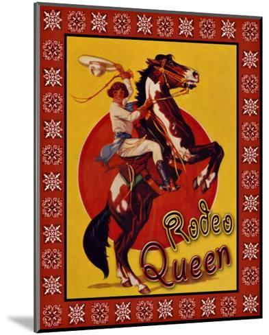 Rodeo Queen--Mounted Giclee Print