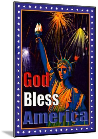 God Bless America--Mounted Giclee Print