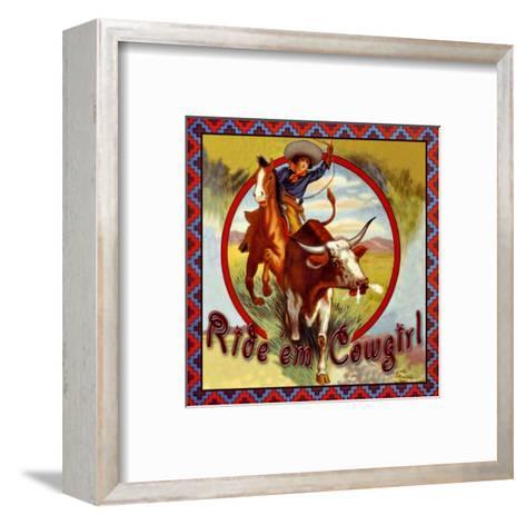 Cowgirl Roper--Framed Art Print
