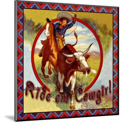 Cowgirl Roper--Mounted Giclee Print