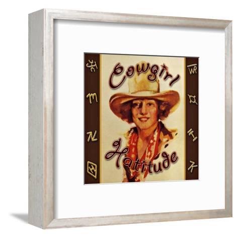 Cowgirl Hattitude--Framed Art Print