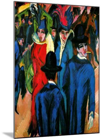 Street Scene in Berlin-Ernst Ludwig Kirchner-Mounted Giclee Print