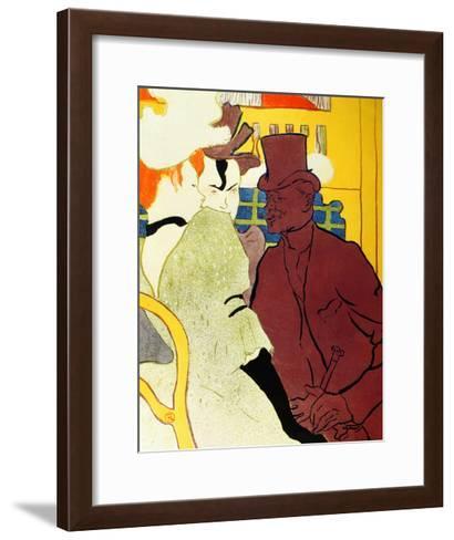 Englishman at Moulin Rouge-Henri de Toulouse-Lautrec-Framed Art Print