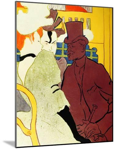 Englishman at Moulin Rouge-Henri de Toulouse-Lautrec-Mounted Giclee Print