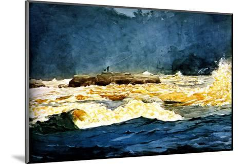 Fly Fishing Saguenay-Winslow Homer-Mounted Giclee Print
