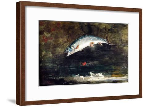 Jumping Trout-Winslow Homer-Framed Art Print