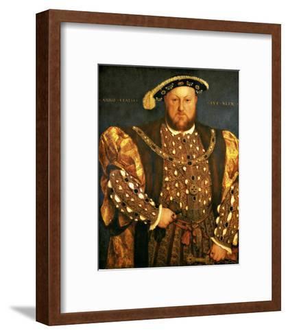 Henry VIII-Hans Holbein the Younger-Framed Art Print