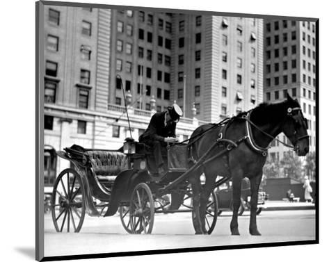 Carriage in Central Park, New York--Mounted Giclee Print
