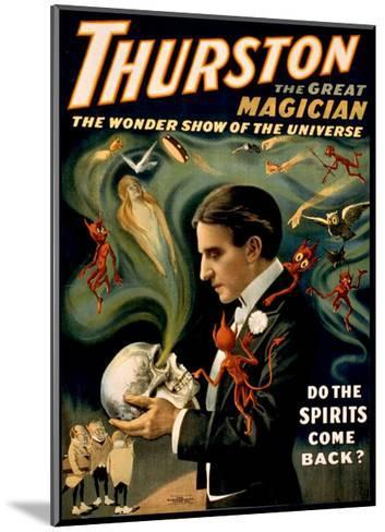 Thurston the Great Magician--Mounted Giclee Print