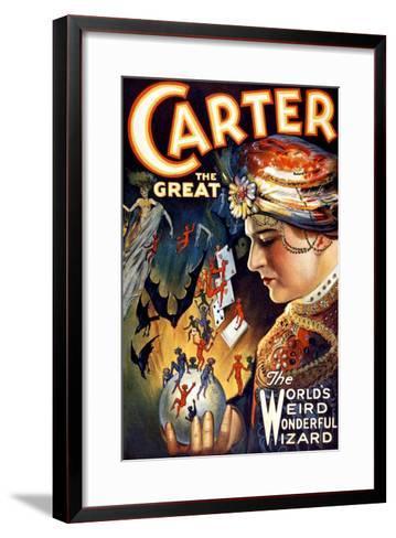 Carter the Great Magician Wizard--Framed Art Print