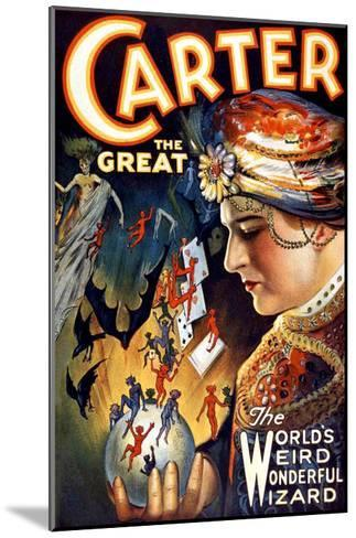 Carter the Great Magician Wizard--Mounted Giclee Print