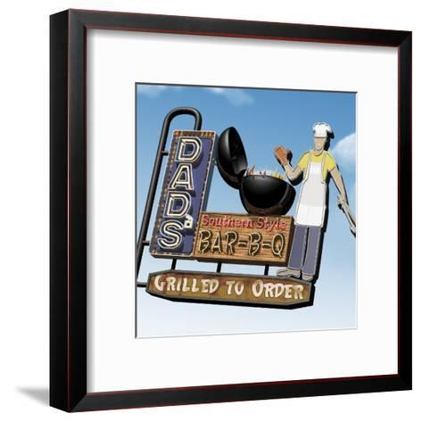 Dad's Southern Style Bar-B-Q-Anthony Ross-Framed Art Print