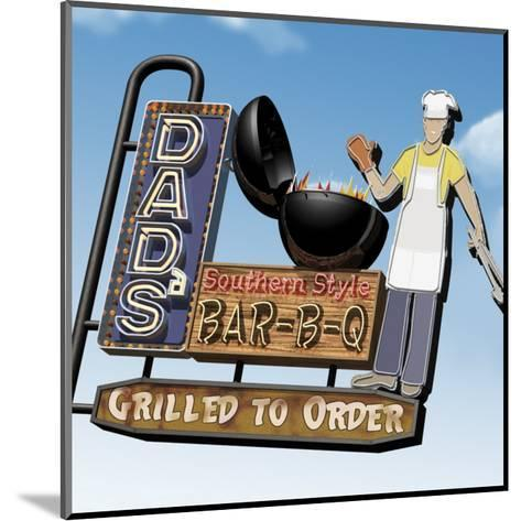 Dad's Southern Style Bar-B-Q-Anthony Ross-Mounted Art Print