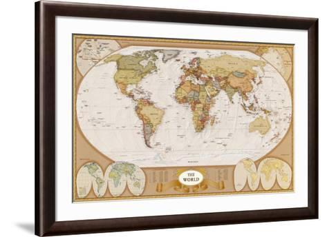 World Antique Map--Framed Art Print