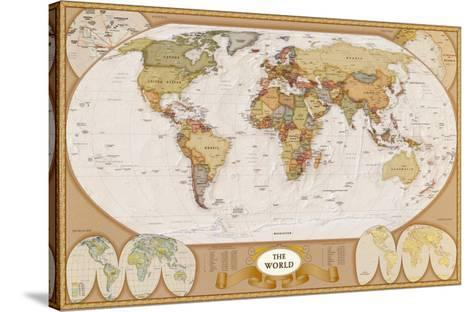 World Antique Map--Stretched Canvas Print