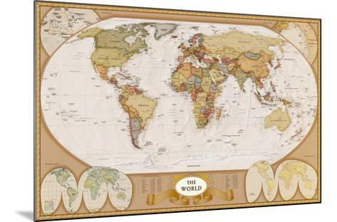 World Antique Map--Mounted Art Print