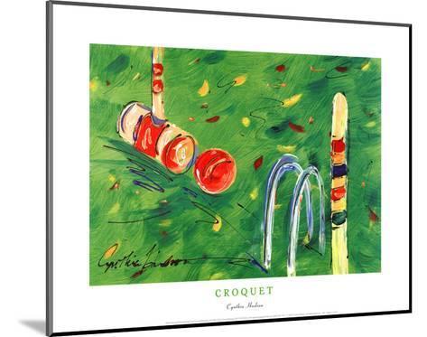 Croquet-Cynthia Hudson-Mounted Art Print