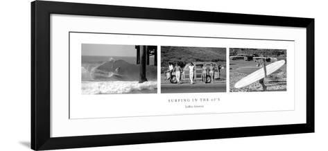 Surfing in the 60's-Leroy Grannis-Framed Art Print
