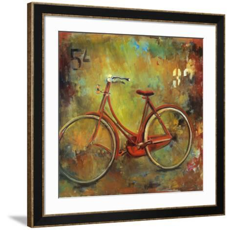 My Old Red Bike-Jill Barton-Framed Art Print