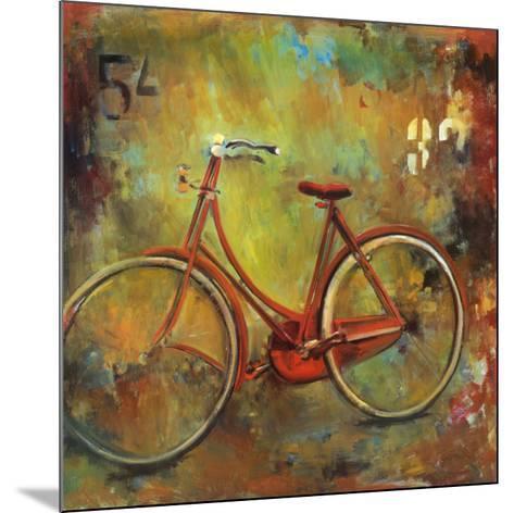 My Old Red Bike-Jill Barton-Mounted Art Print