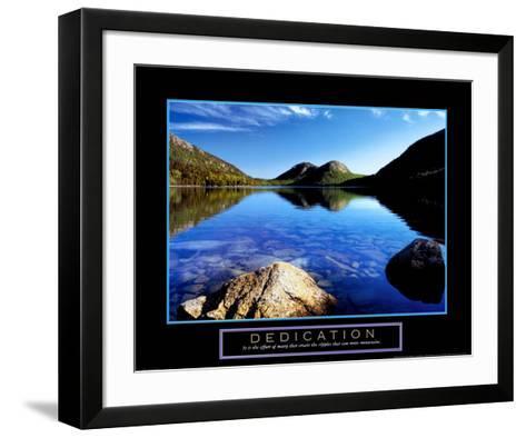 Dedication: Jordan Pond-Dermot Conlan-Framed Art Print